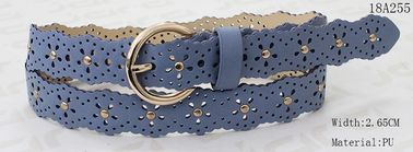 Fashion Light Blue PU Ladies Waist Belt Specjalny dziurkacz i metalowa ozdoba